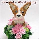 コーギー犬のプリザーブドフラワーアレンジ コーギーグッズ