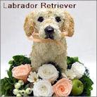 ラブラドールレトリバー犬のプリザーブドフラワーアレンジ ラブラドールグッズ