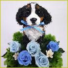 バーニーズマウンテン犬のトピアリー