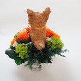 柴犬のプリザーブドフラワーアレンジ
