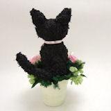 黒猫のトピアリープリザーブドフラワーpretty
