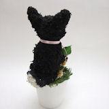 黒柴犬のトピアリープリザーブドフラワー