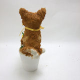柴犬のプリザーブドフラワーアレンジpetit