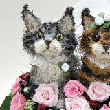 猫2匹のウェルカムドール