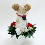犬プリザーブドフラワー