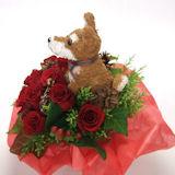 柴犬のトピアリークリスマス限定フラワーアレンジ(生花)