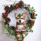 クリスマスリース 柴犬