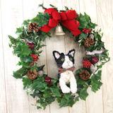 白黒猫クリスマスリース