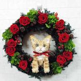トラ猫のトピアリー プリザーブドフラワーリース