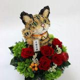 招き猫 猫プリザーブドフラワーアレンジ