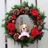犬 クリスマスリース
