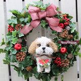 シーズー 犬クリスマスリース