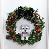 犬のクリスマスリース 45cm(シュナウザー)
