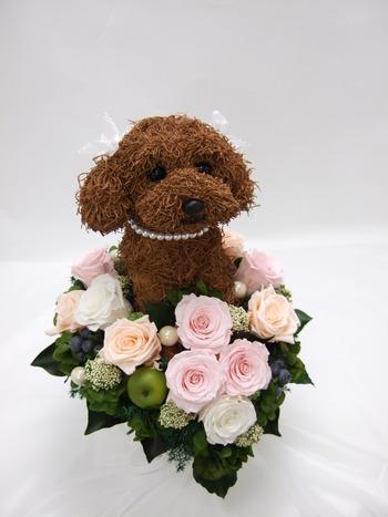 犬好き 結婚式ブーケ