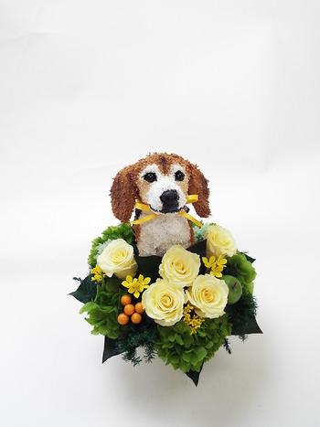 犬オーダーメイド プリザーブドフラワー