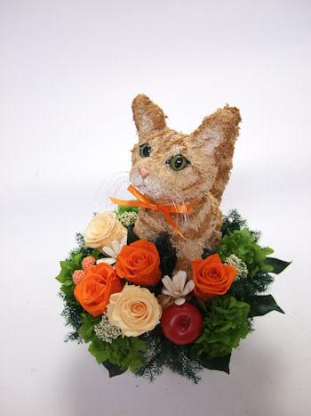 猫のフラワーギフト