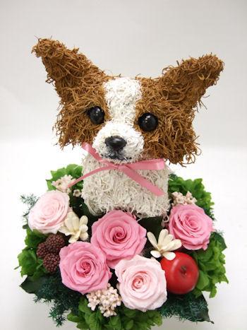 犬の花アレンジ