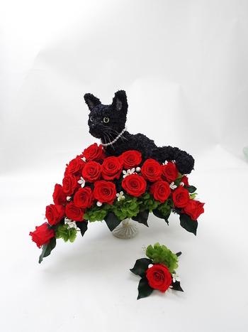 結婚式用愛猫のウェディングブーケ