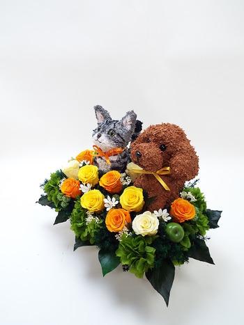 動物病院開院祝いプリザーブドフラワーアレンジ