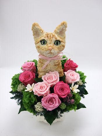 結婚式猫好きの両親へ贈る花
