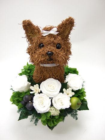 犬のお悔やみ花