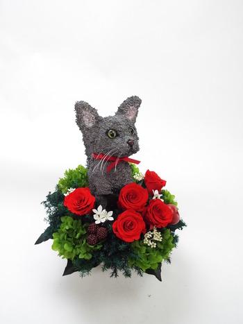 猫プリザーブドフラワー