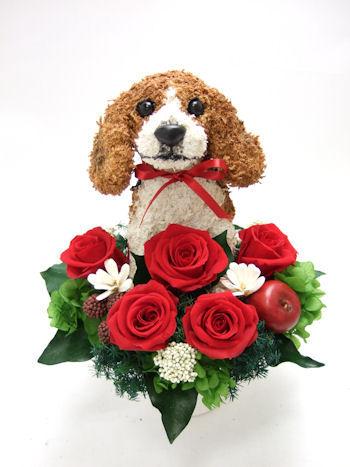 ビーグル犬の花ギフト