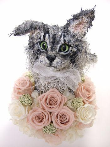 メインクーンの猫のウェルカムドール