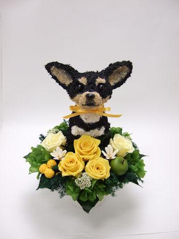 結婚祝い 犬の花ギフト