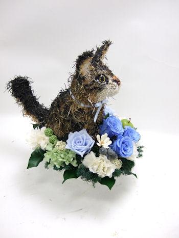 猫のオーダーメイドトピアリー