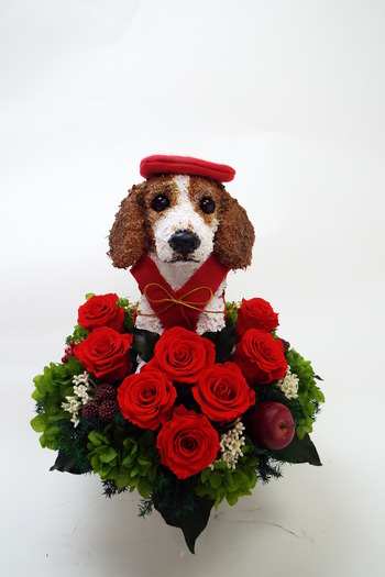 ビーグル犬プリザーブドフラワー