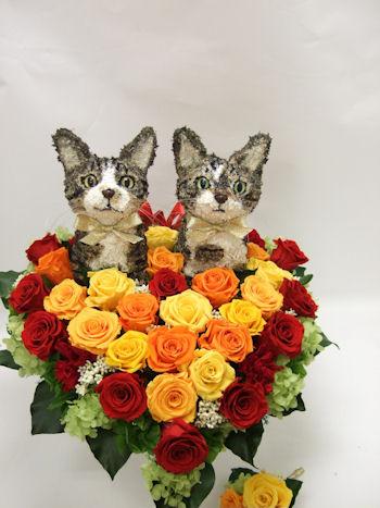 結婚式 猫 ブーケ