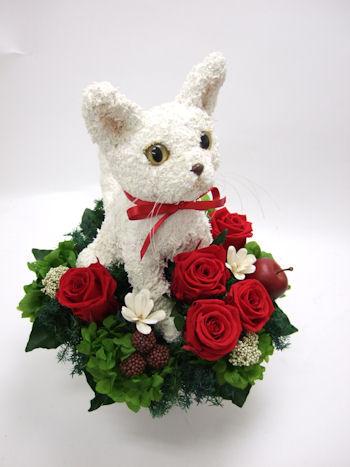 白猫のトピアリー