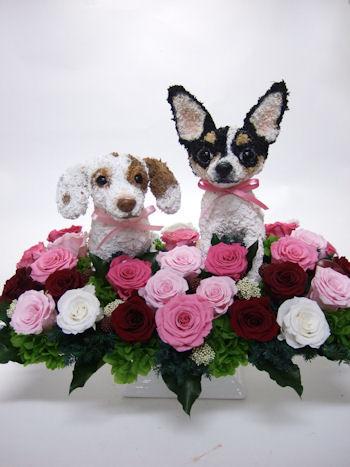 愛犬のオリジナルトピアリー