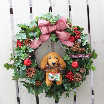 christmaswreath_dog-dax