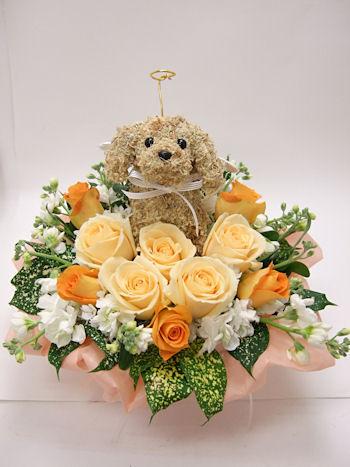犬のお悔やみお供え花