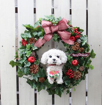 christmaswreath_dog-maru
