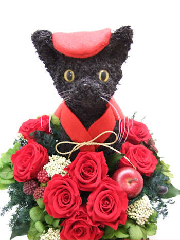 還暦祝いの猫のトピアリー