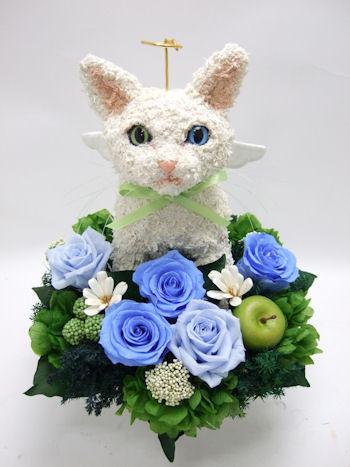猫のお悔やみ花