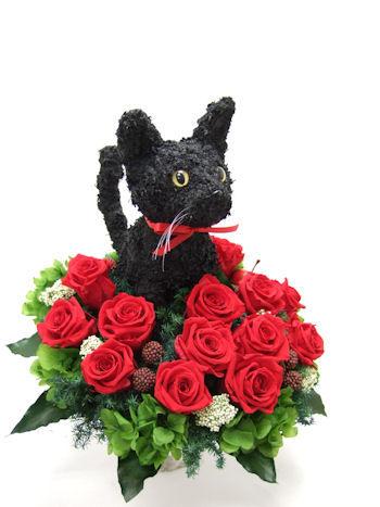 猫好きの花ギフト