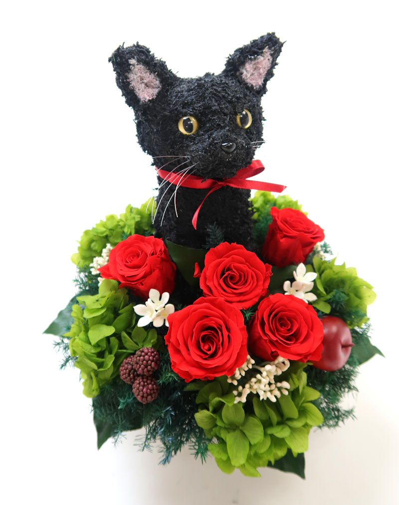 猫お供え花