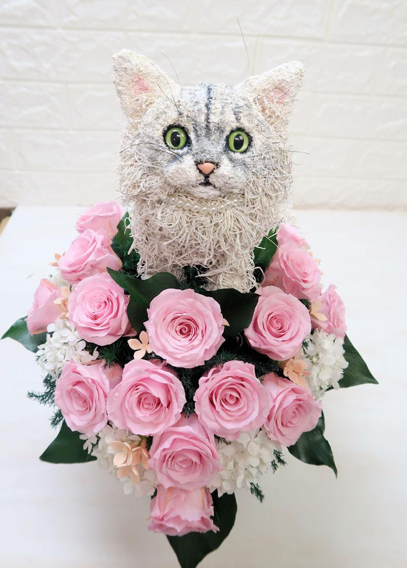 結婚式 猫ブーケ