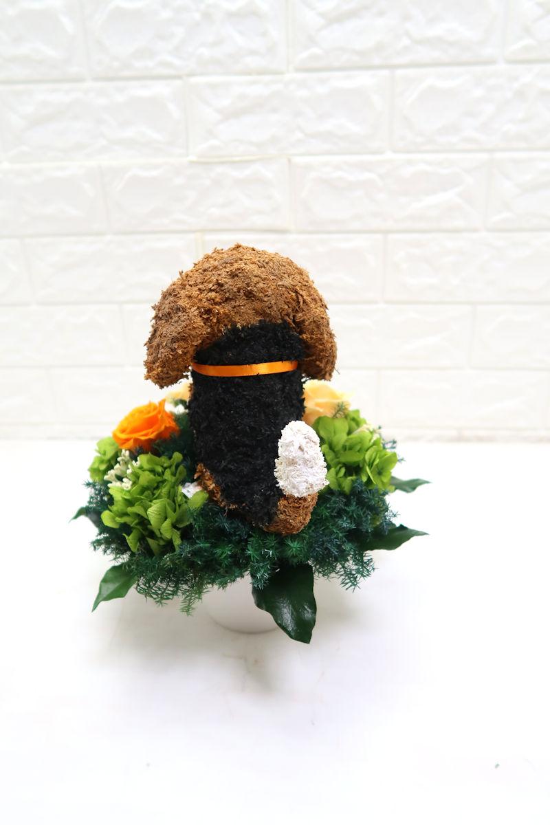 プリザーブドフラワーアレンジ 犬