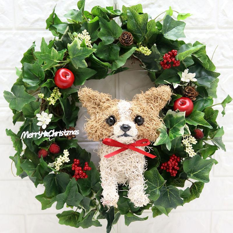 クリスマスリース チワワ