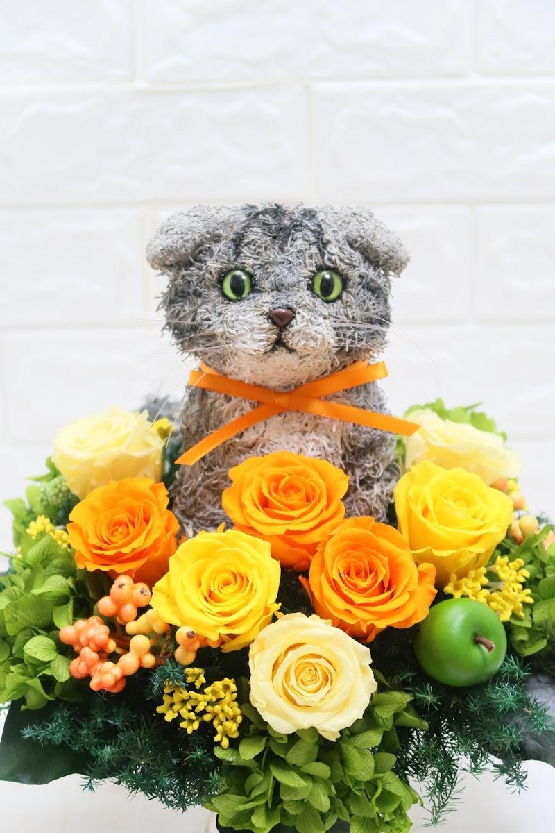 猫花アレンジ
