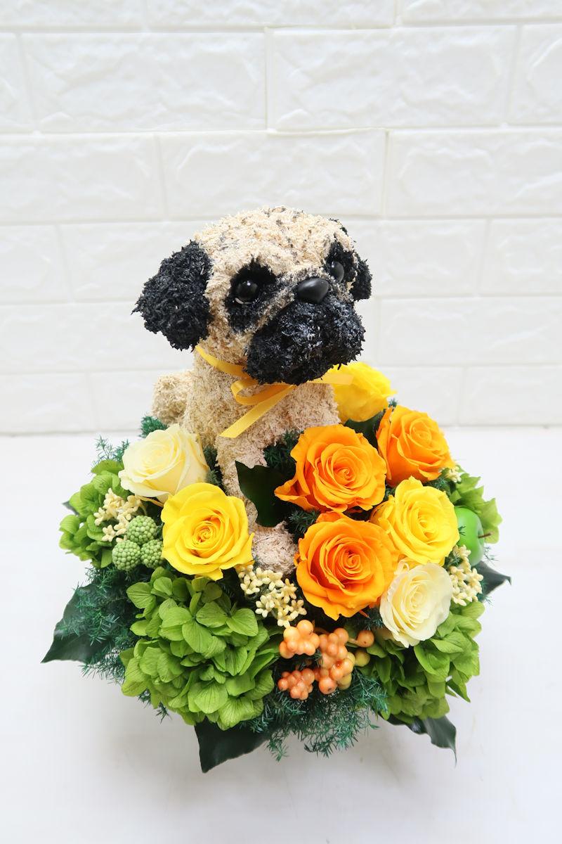 結婚祝い 犬 トピアリー