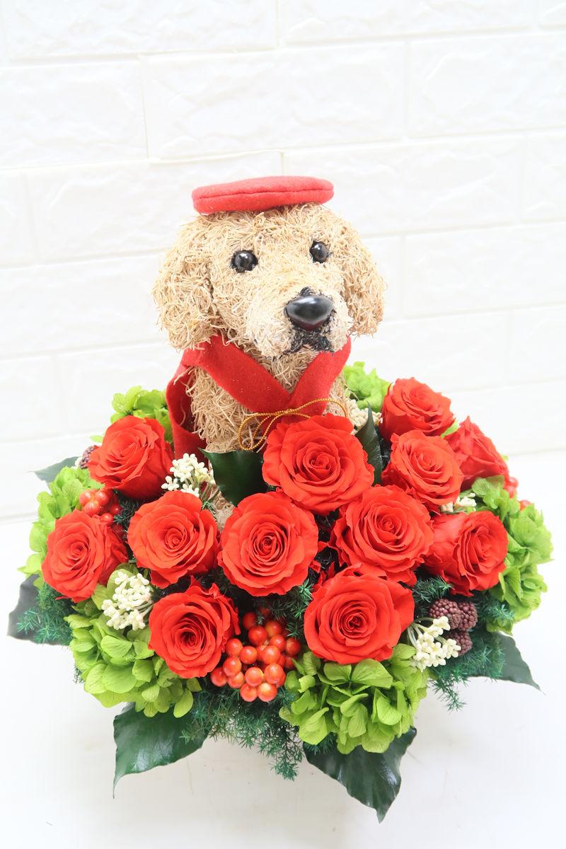 プリザーブドフラワー 犬