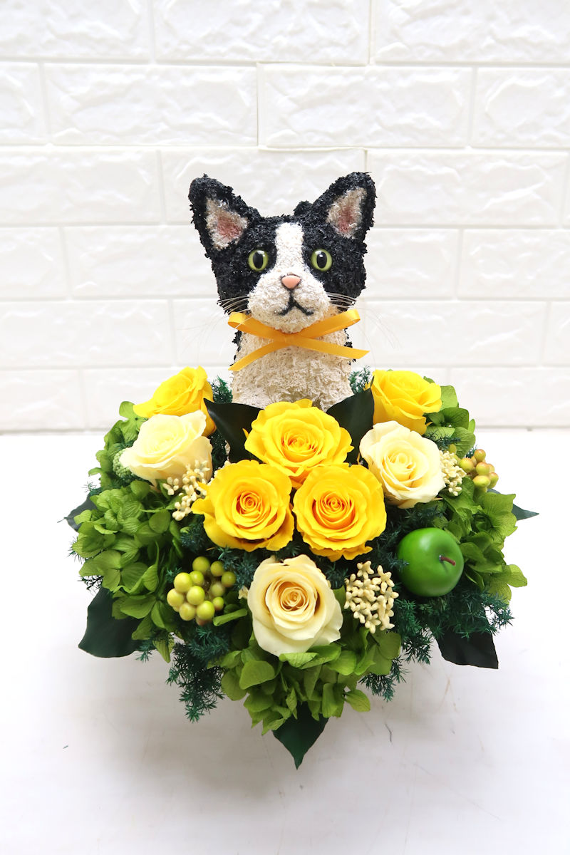 猫のお悔やみお供え花