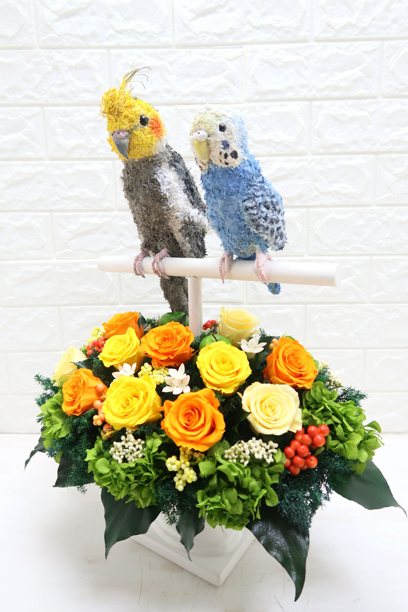結婚式両親プレゼント プリザーブドフラワーアレンジ