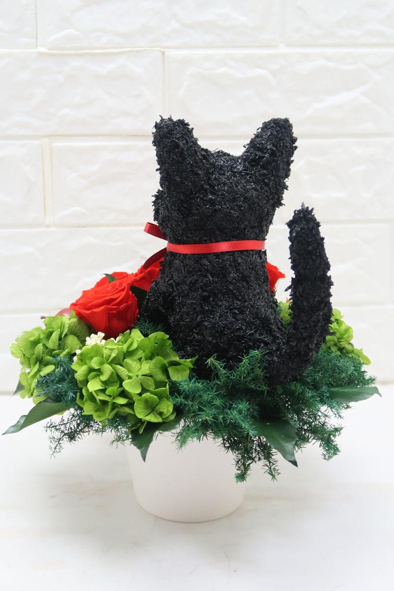 黒猫 トピアリー